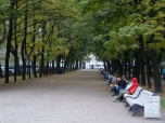 Everywhere in Central and Eastern Europe, benches are crowded with people, unlike in Western Europe
