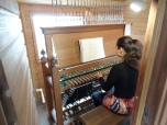 Carillon player at St. Peter & Paul