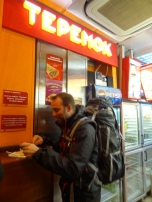 Late dinner at Teremok, a Russian pancake joint - I loved it!
