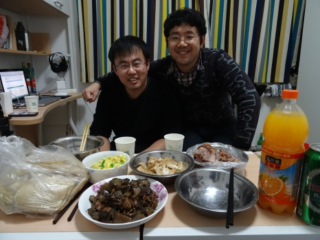 Home cooking with my host Leo and his flatmate