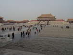 Entrance of the Forbidden City and View on the Main Palace