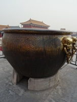 Bronze Kettles for Fire Fighting - Note the opening underneath for heating the water in winter