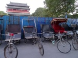 Rickshaws in front of the Drum Tower