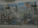 "Many stations are rather little palaces and feauture luxury. Here: Wall Painting in Ekaterienburg's Main Station - The city's officials actually banned the famous ""U2-incident"" on their station's walls."