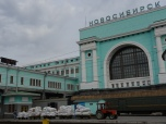 Novosibirsk Main Station - Note it is 15°C outside (warm Siberia!)