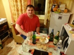 My host Vitaly over our late night dinner
