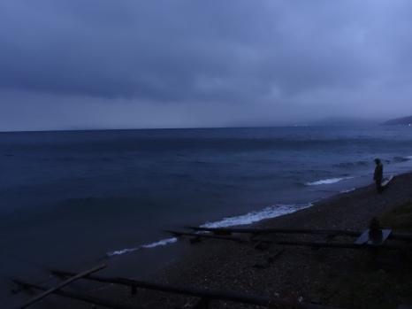 Huge and Stormy Lake Baikal