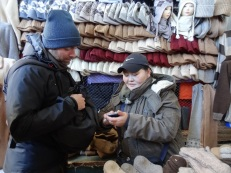 Bargaining at the market - How much were the camel socks again?