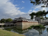 Outer wall of Hiroshima castle, that was totally rebuild after the 1945 atomic bombing.