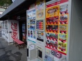 Everywhere in Japan are huge vending machines for drinks, especially coffee. As for me it tastes horrifying!
