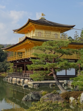 The astonishing Golden Pavilion (Kinkaku-ji) in Kyōto.