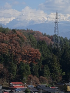 View on the Japanese Alps close to Takayama.