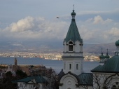 Hakodate on Hikkaido with the orthodox church in the foreground.