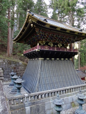 Drum tower of Taiyuinbyo shrine - opposite stands the bell tower.