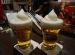 The Japanese like beer with a frozen top - looks like sh**...