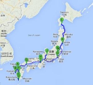 Tour Map Japan