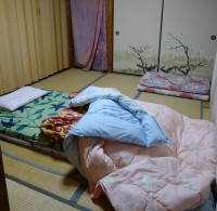 Typical accommodation in Japan - just wonderfully comfortable!
